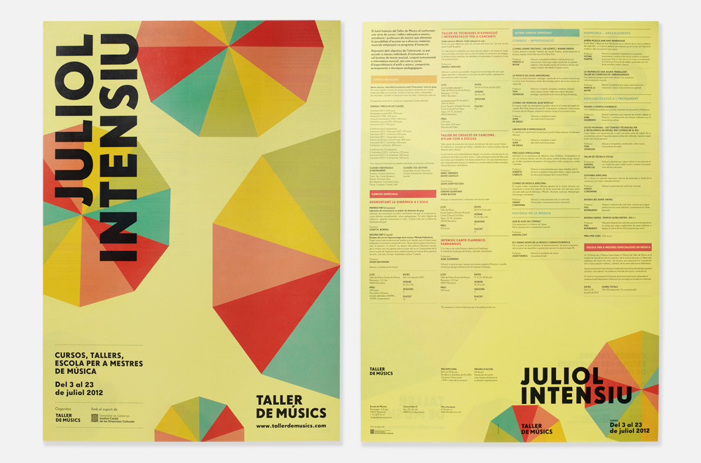 Poster and brochure for the summer courses programme
