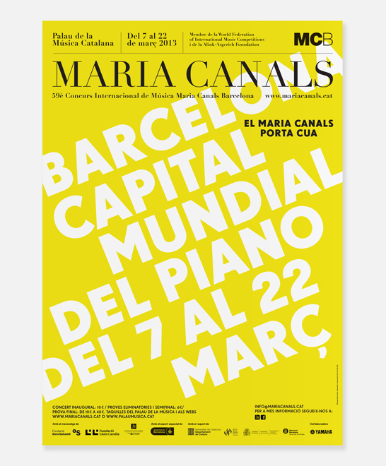 Campaign 2013 for the International Music Competition Maria Canals Barcelona